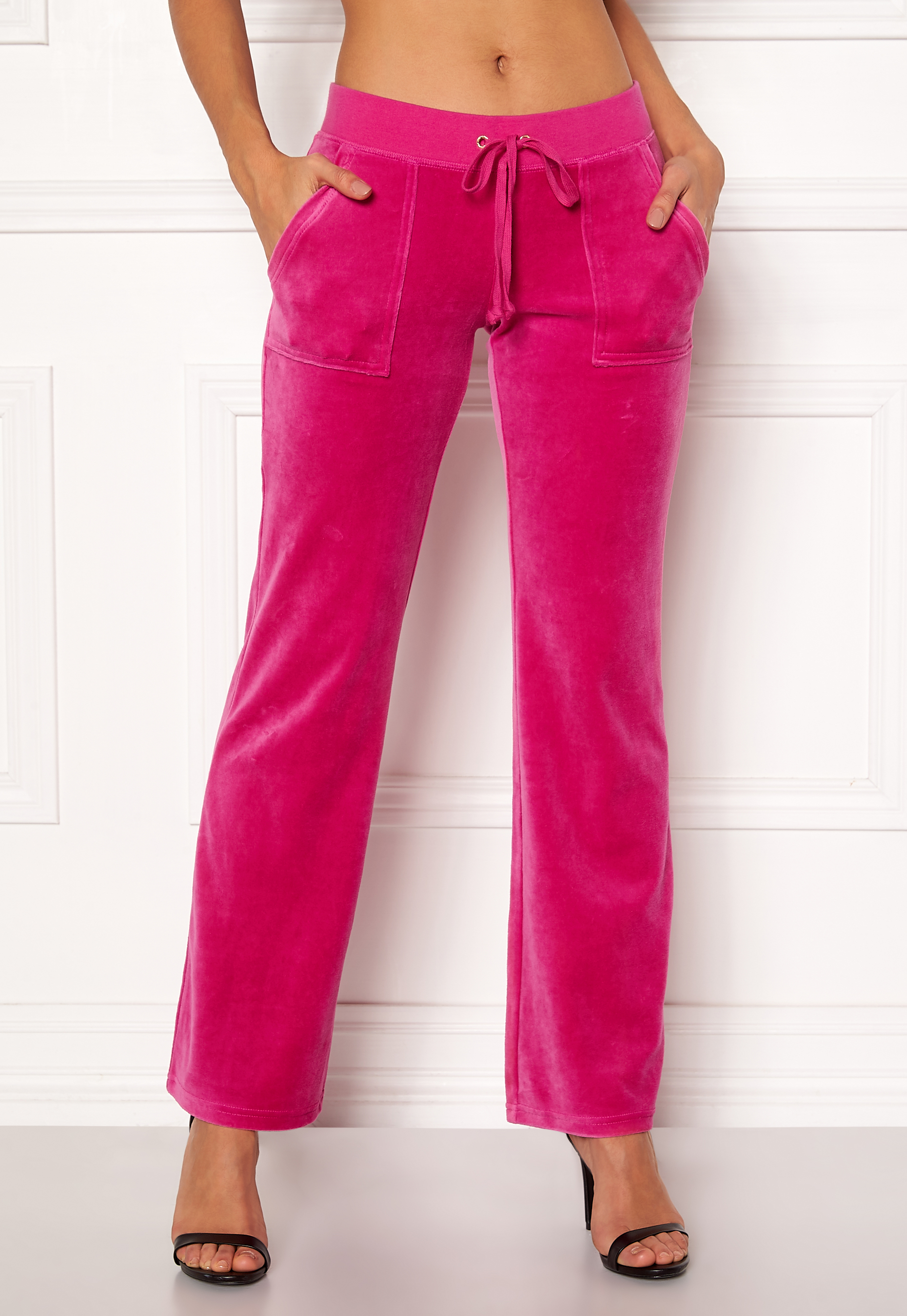 4a7567cd Juicy Couture Velour Del Rey Pant Raspberry Pink - Bubbleroom