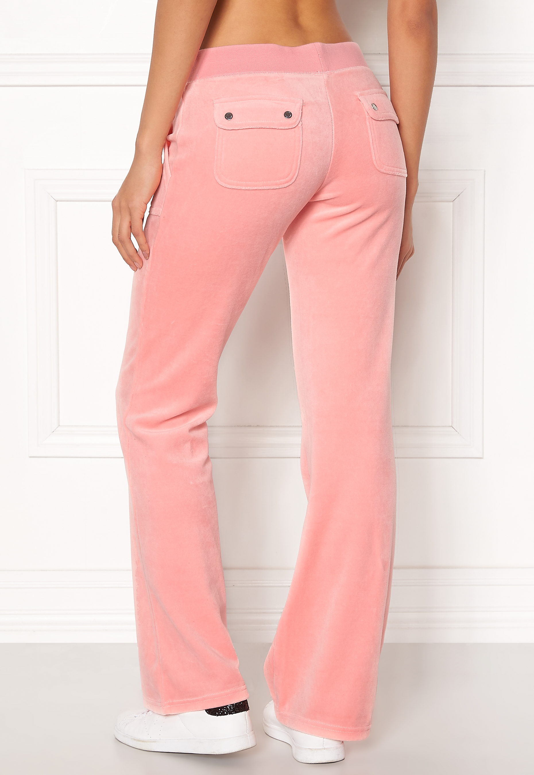fcd9d70d Juicy Couture Velour Del Rey Pant Sorbet Pink - Bubbleroom