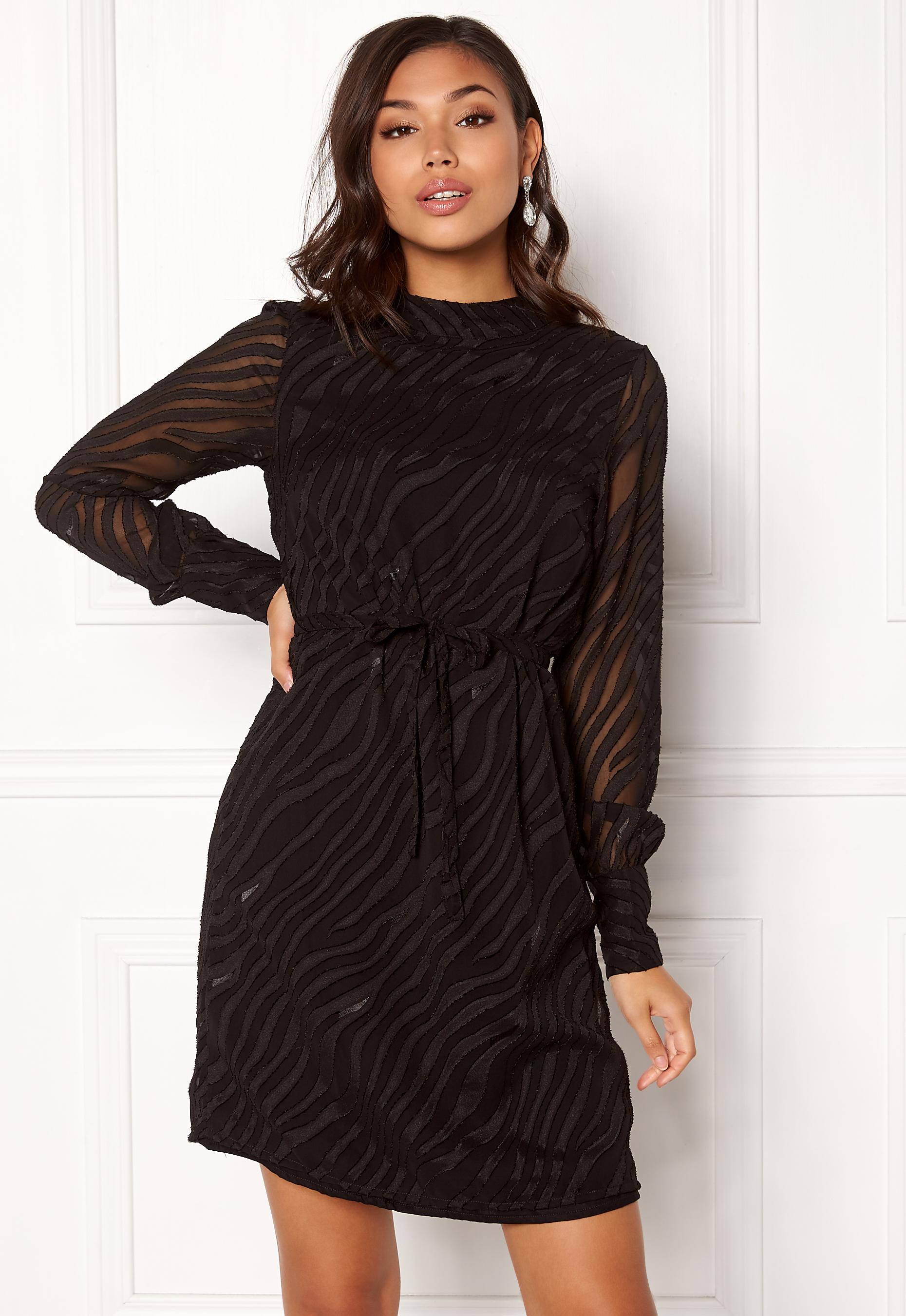 eac9a6c44de2 OBJECT Gabrielle L S Dress Black - Bubbleroom