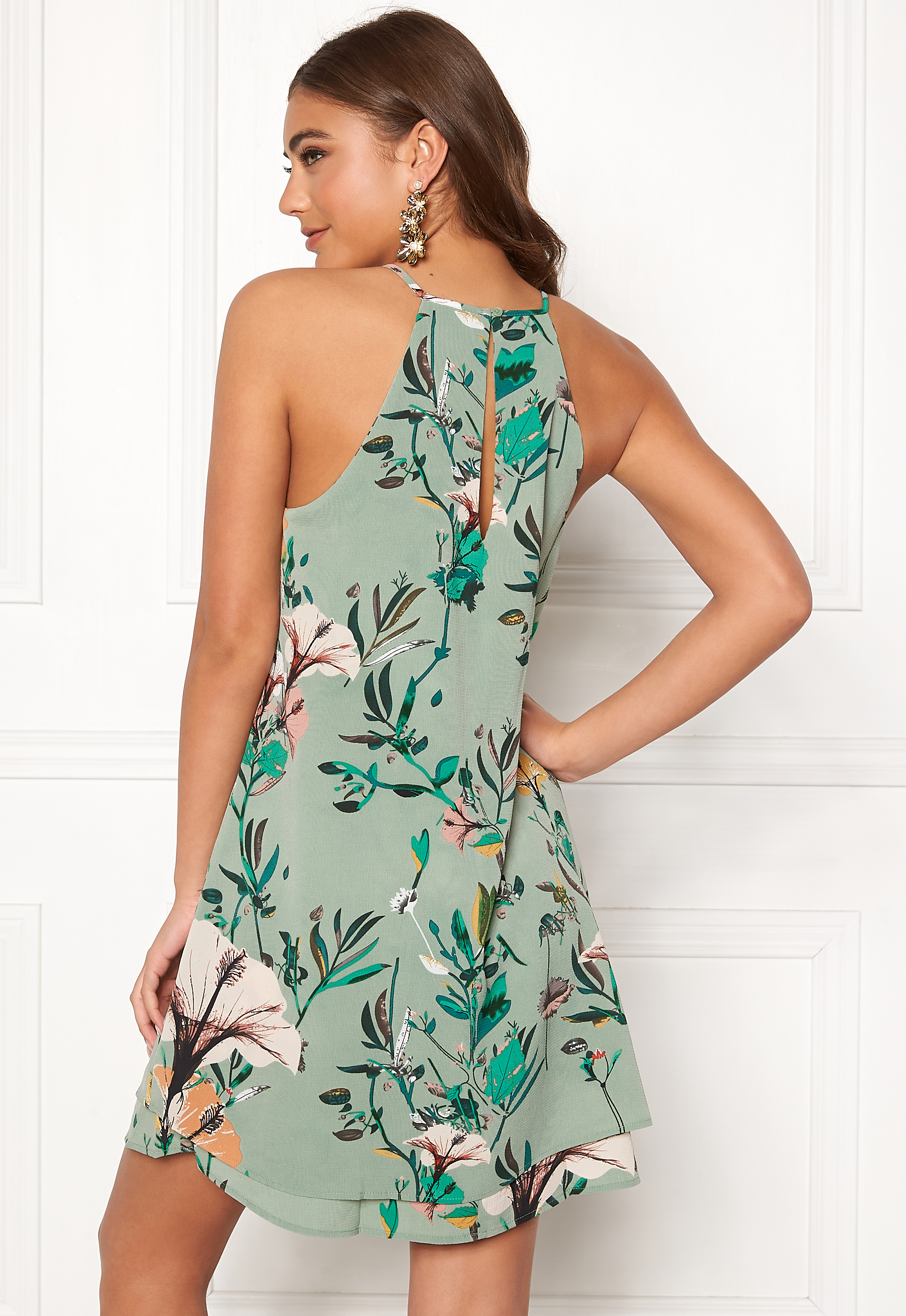 17e290da7889 ONLY Mariana Myrina S L Dress Granite Green AOP - Bubbleroom