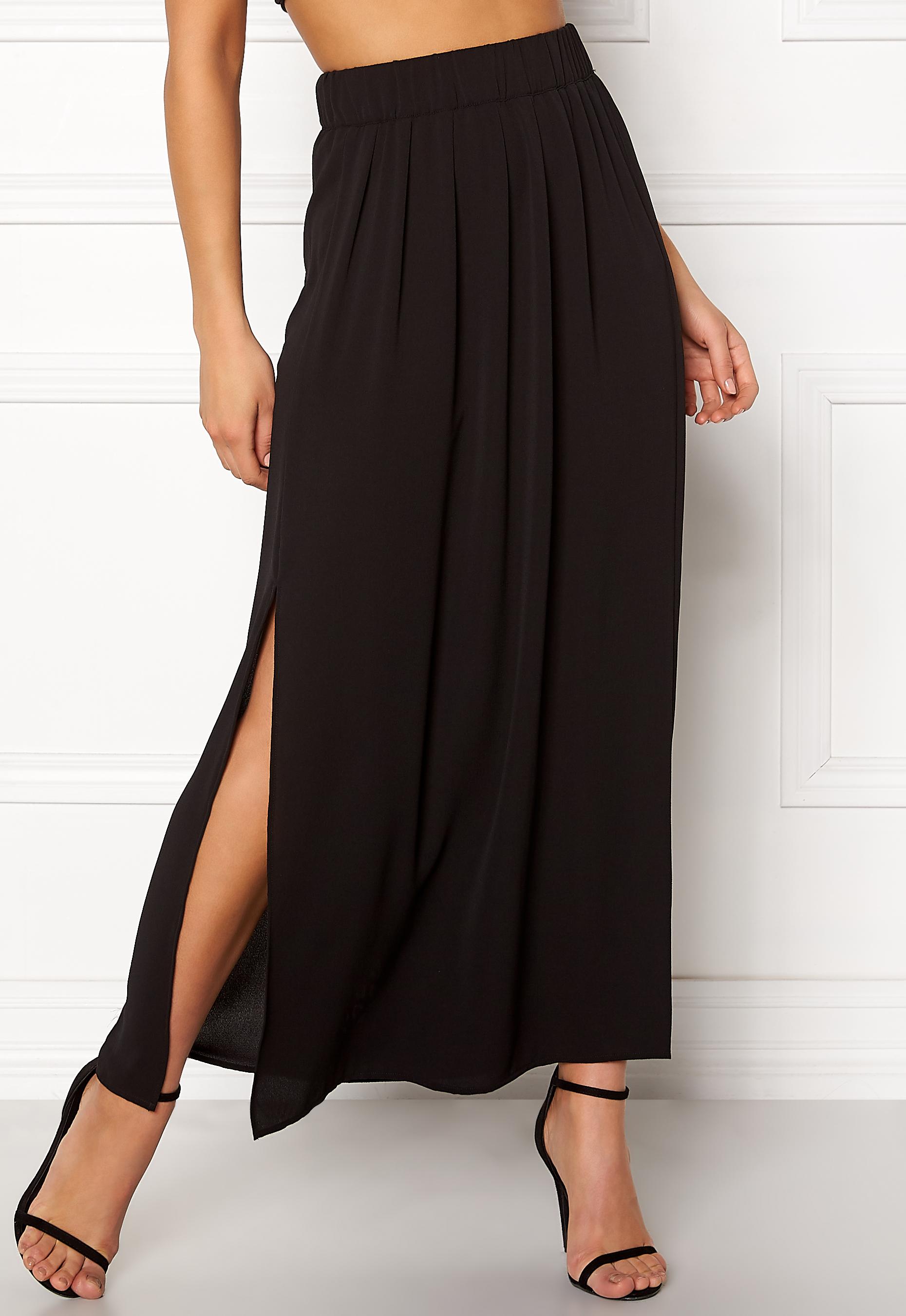 maxi nederdel med slids