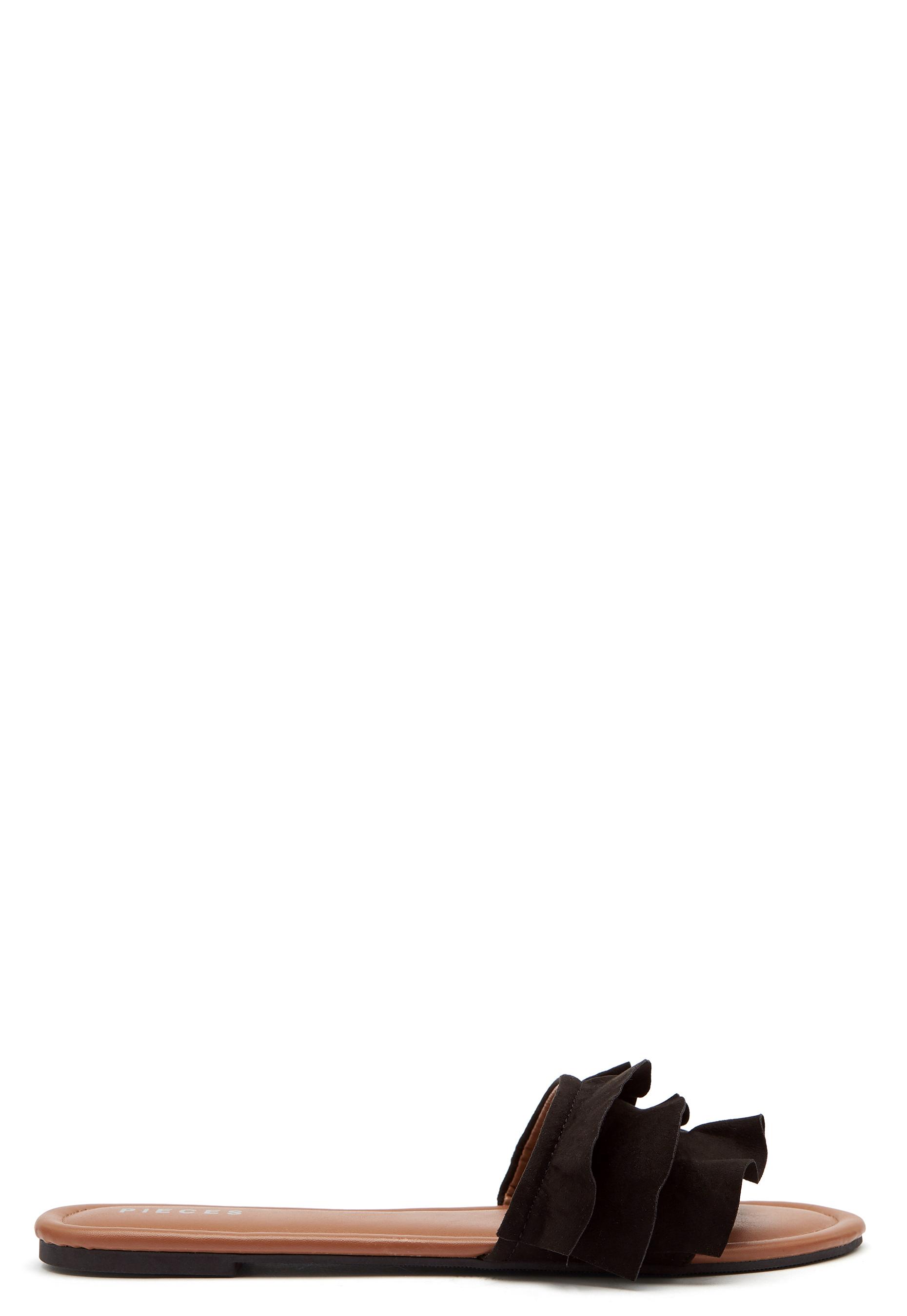 Sandaler Med Flæsekant