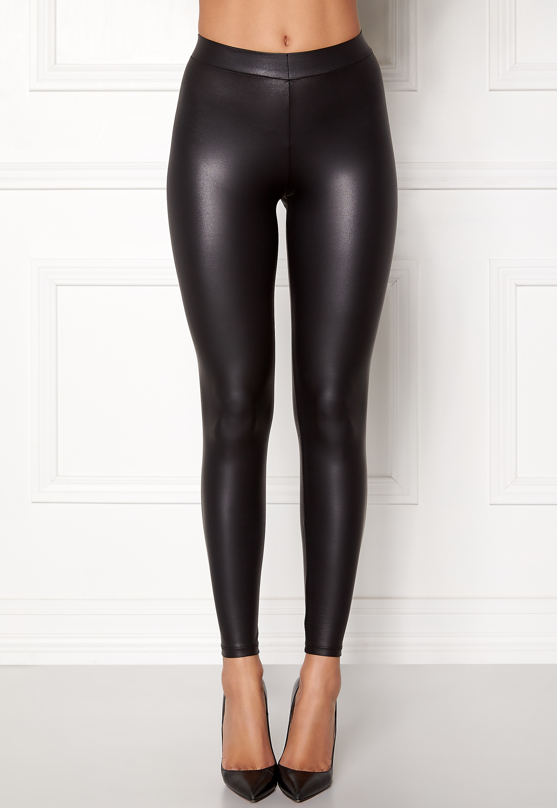 Pieces New Shiny Leggings Black