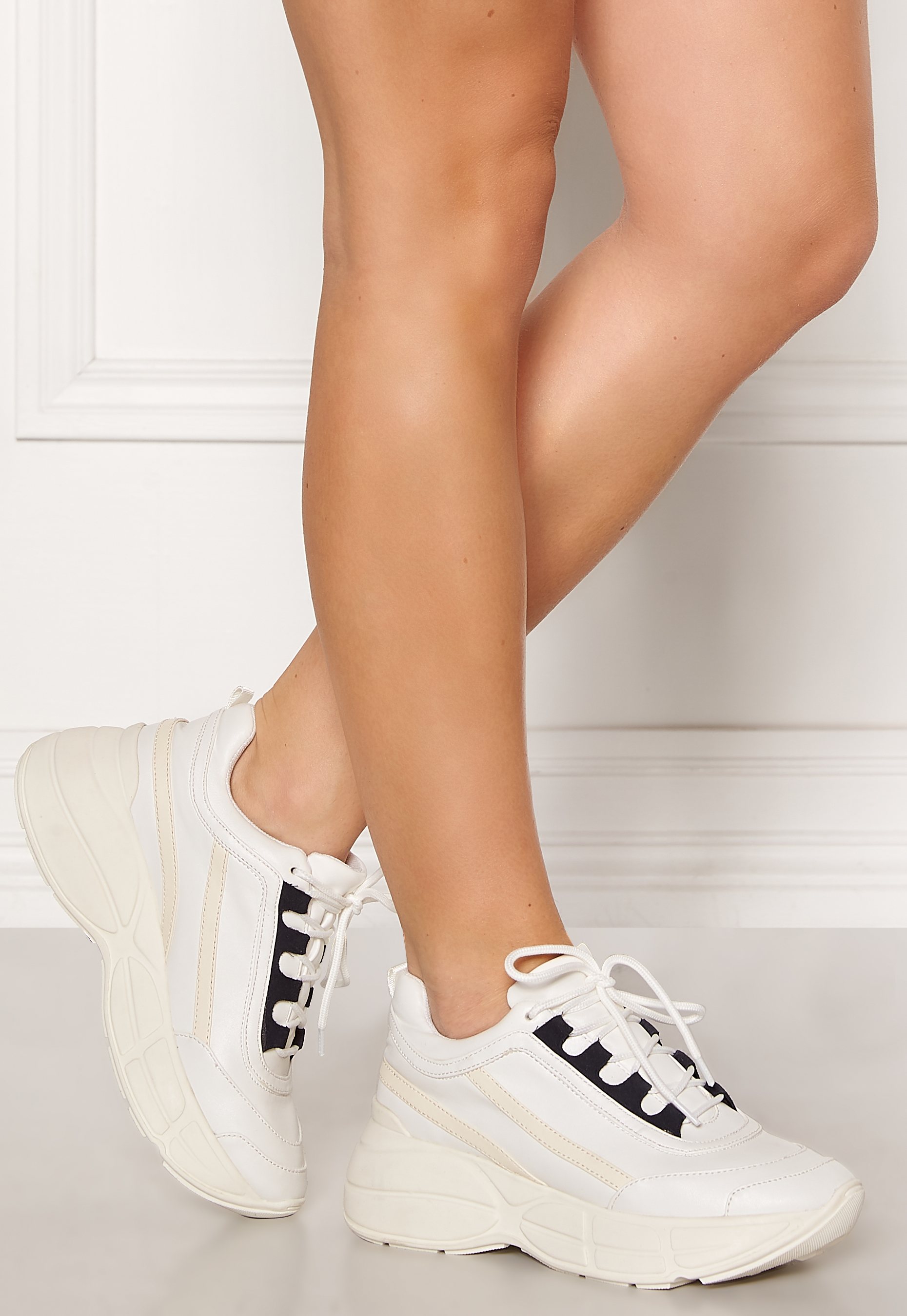 da3db462 Steve Madden Mature Sneaker 2 White - Bubbleroom