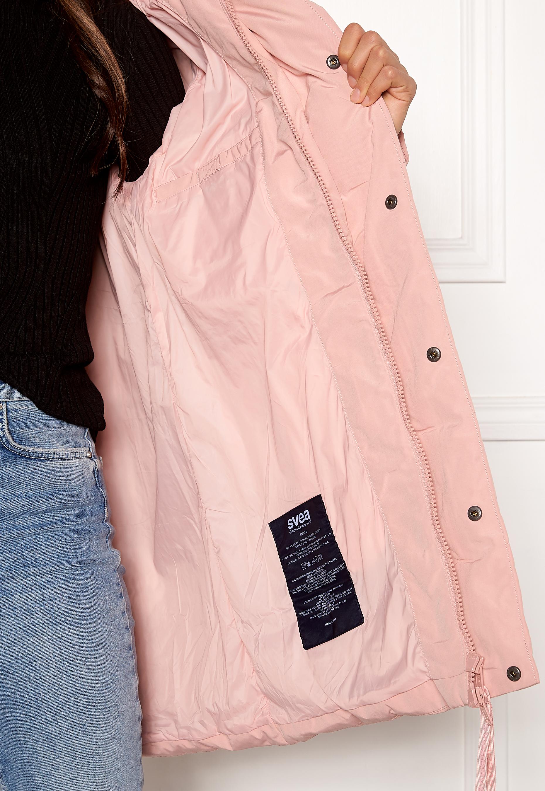 Svea Slim Fit Padded Jacket 505 Soft Pink Bubbleroom