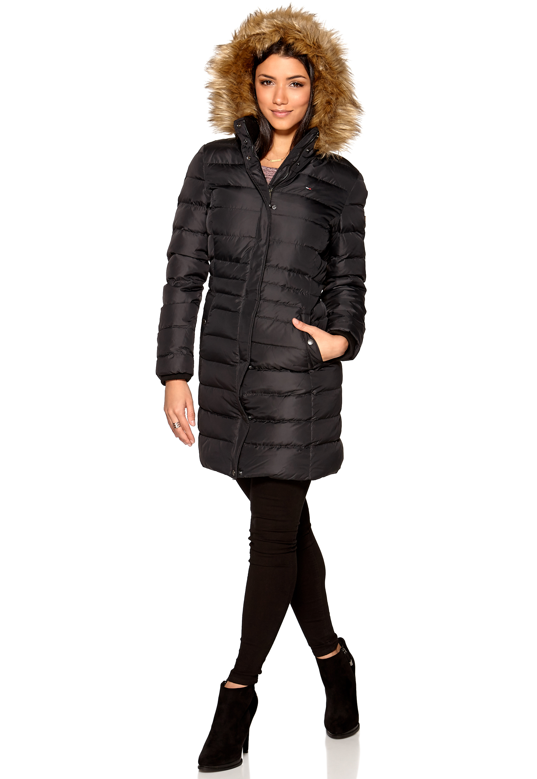 f01bc826ee6 TOMMY JEANS Maria Down Coat Tommy Black - Bubbleroom