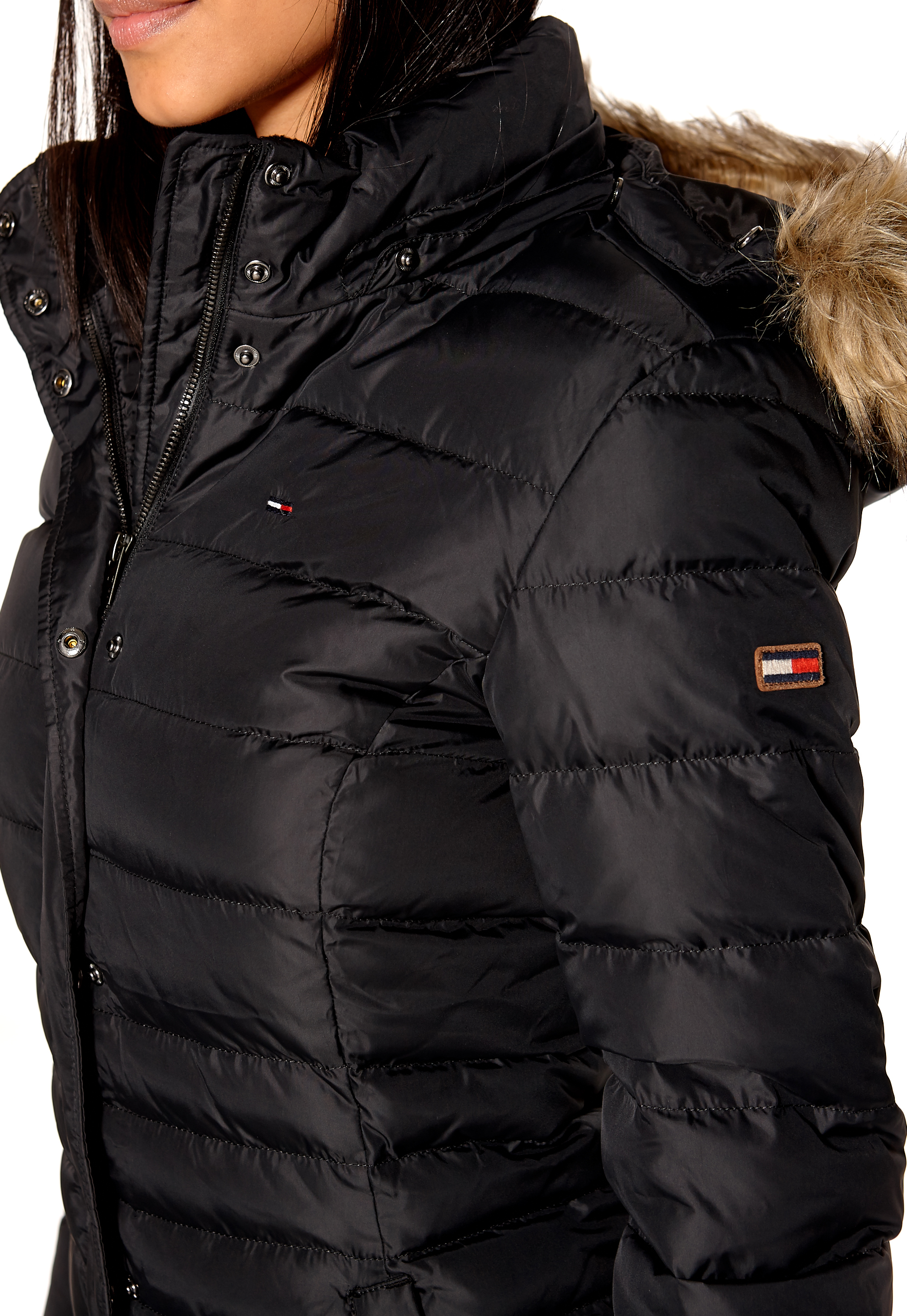 74e743b1 Favorit TOMMY JEANS Maria Down Coat Tommy Black - Bubbleroom GJ06