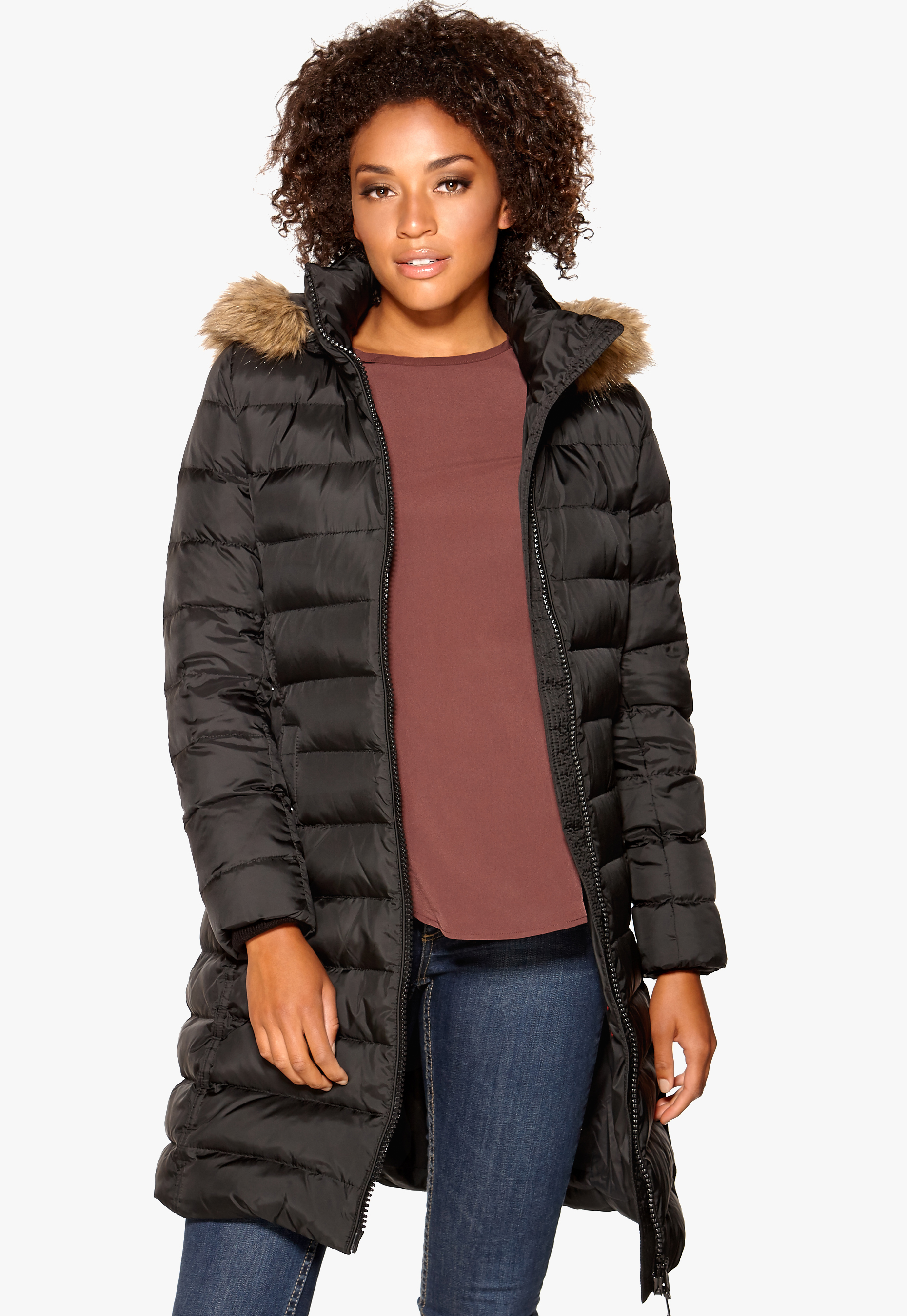 ae260931 TOMMY HILFIGER Tyra Down Coat Masters Black - Bubbleroom