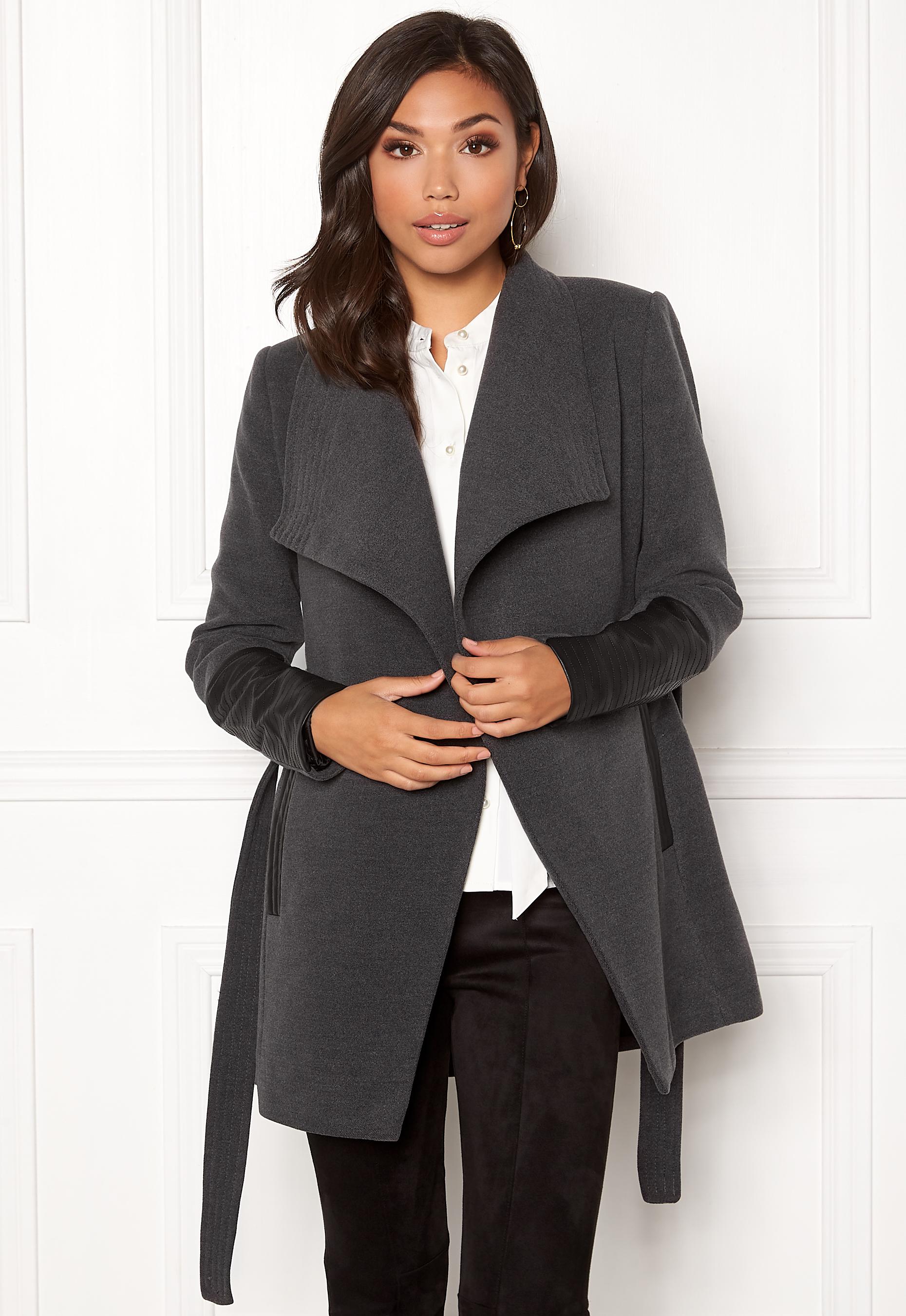 4d8b5671 VERO MODA Cala 3/4 Jacket Dark Grey Melange - Bubbleroom