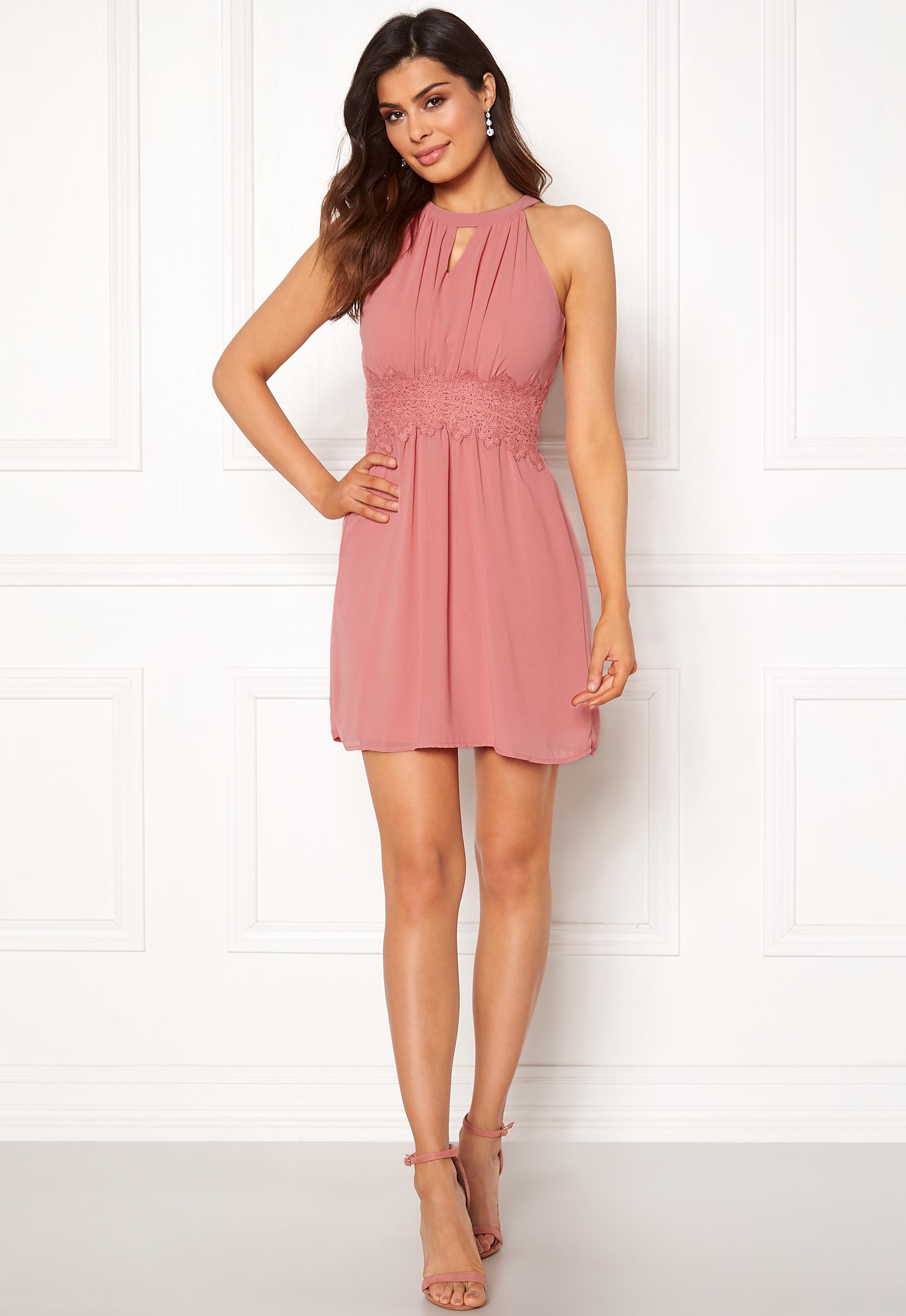 43cfa7df11e5 VILA Milina Halterneck Dress Brandied Apricot - Bubbleroom