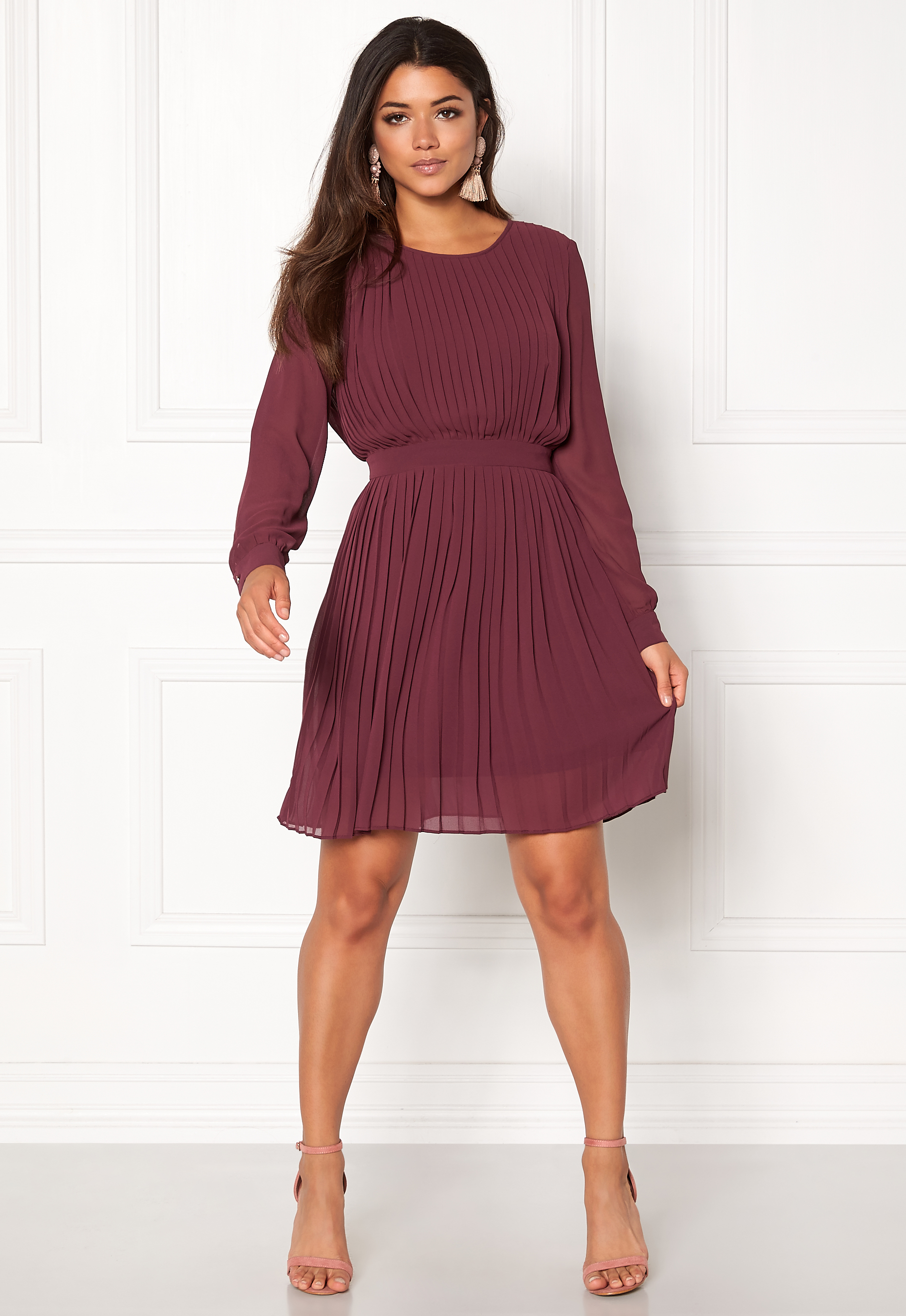 5af5712d2877 VILA Vimillie Dress Fig - Bubbleroom