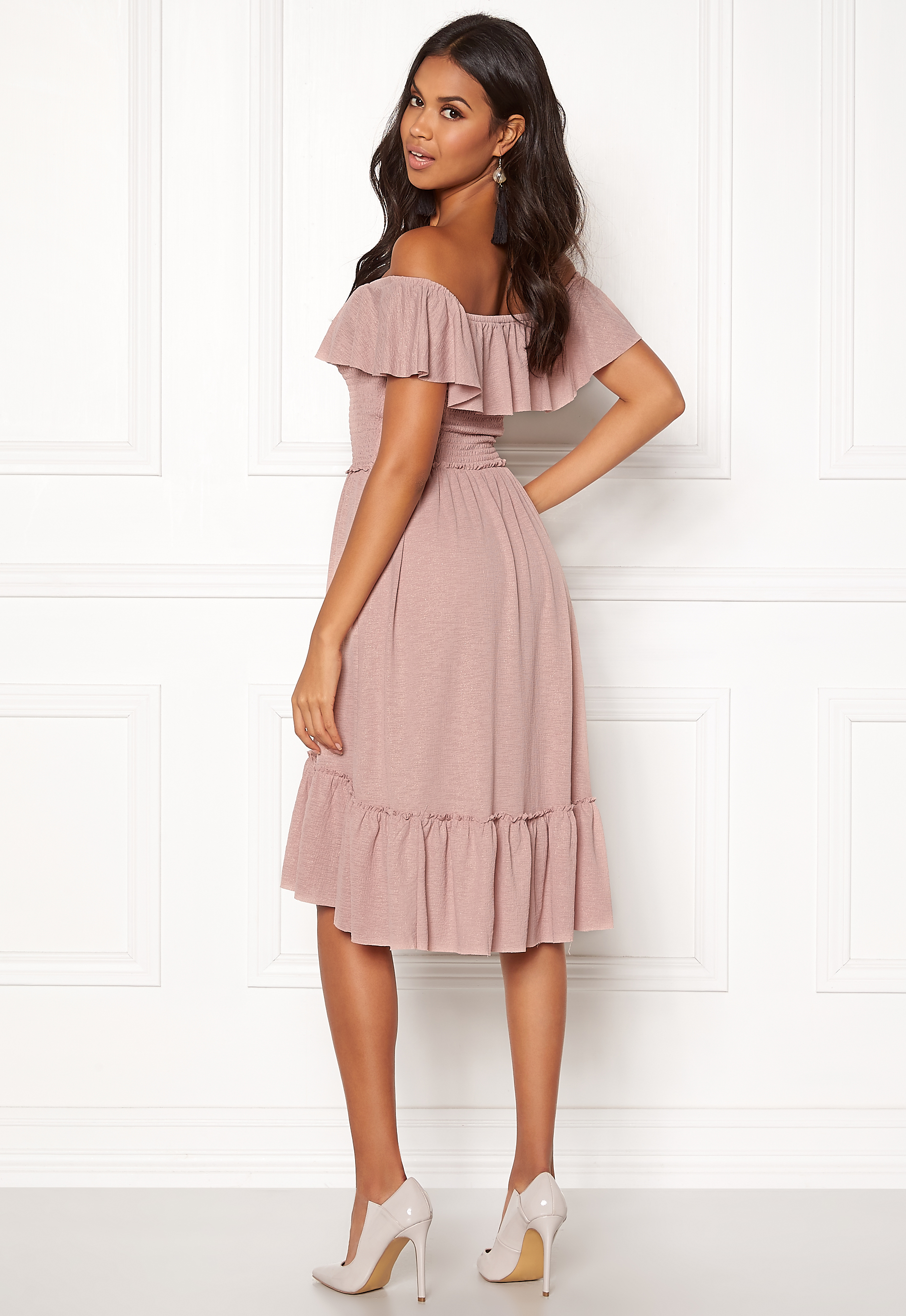 VILA Petra SS Dress Adobe Rose Bubbleroom
